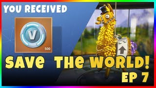 LET'S PLAY FORTNITE: SAVE THE WORLD! Episode 7 - Collection Book Rewards! Free V Bucks & Gold Llama