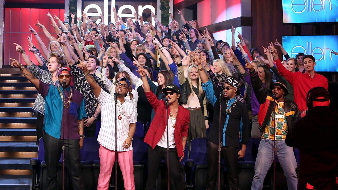 Ellens Favorite Moments Mark Ronson And Bruno Mars Perform Uptown Funk