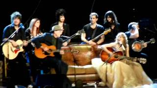 "Taylor Swift and James Taylor sing ""Fire and Rain"" also ""Fifteen"""
