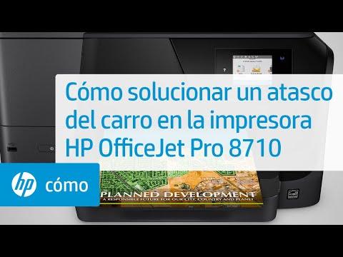 Cómo solucionar un atasco del carro en la impresora HP OfficeJet Pro 8710 | HP OfficeJet | HP