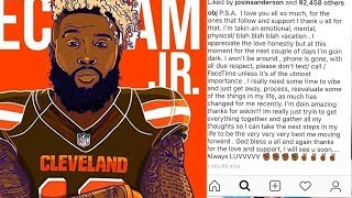 "Odell Beckham Jr Goes ""DARK"" On Social Media After INTENSE Pressure From Cleveland Browns Fans!"