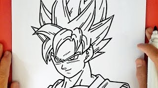 HOW TO DRAW GOKU SUPER SAIYAN BLUE FROM DRAGON BALL SUPER