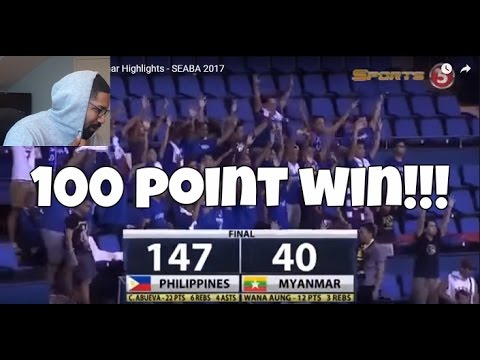 147-40 BLOWOUT GILAS PILIPINAS!! Philippines vs Myanmar 2017 SEABA REACTION!!