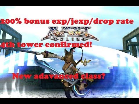 Avabel Online - 200% Bonus, Character Voices, Tower, New Advances Classes!