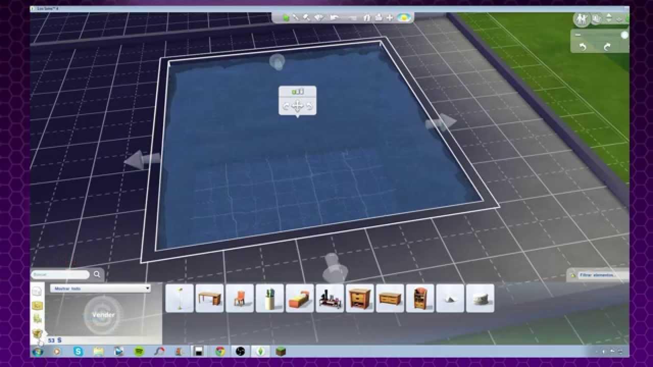 Los sims 4 parte 5 menuda piscina youtube for Piscina sims 4