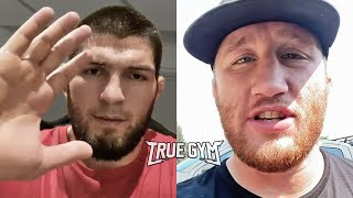 В этом бою Хабиб увидит свою кpoвь / Джастин Гейджи про бой против Хабиба Нурмагомедова на UFC 254