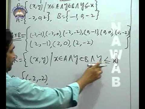BINARY RELATION OF SETS, Math, Pakistani Syllabus