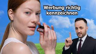 Influencer Recht - Marketing bei Instagram und YouTube richtig kennzeichnen |Zivilrecht| Herr Anwalt