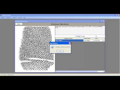 Finger Scanner Software Demo