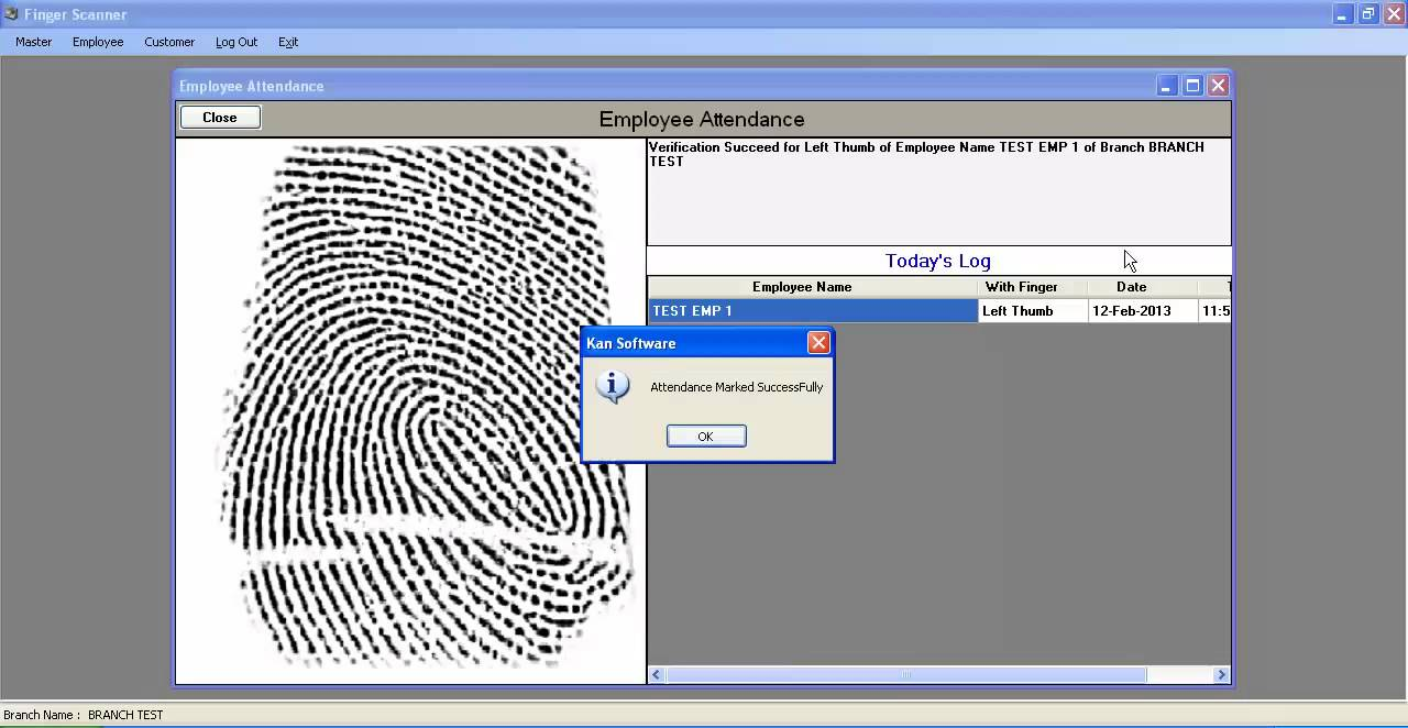 Finger Scanner Software Demo Youtube