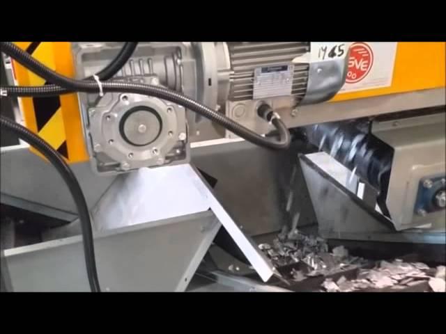 Aluminium recycling line for radiators