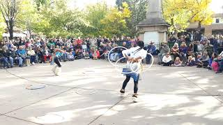 Santa Fe Indigenous Day Commemoration 2018 - Lightning Boy Foundation, HOOP DANCE - Pojoaque Pueblo