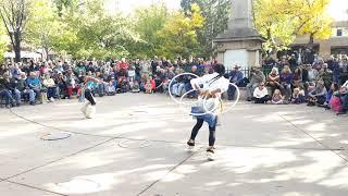Santa Fe Indigenous Day Commemoration 2018 - Lightning Boy Foundation, HOOP DANCE - Pojoaque Pueblo