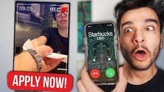 Can a Youtuber get a NORMAL JOB? (Mcdonalds, Starbucks, & MORE YOUTUBER CHALLENGE)