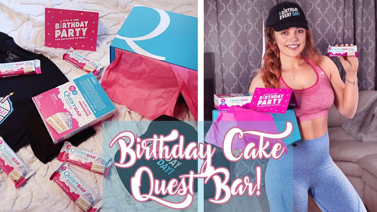 NEW Quest Birthday Cake Flavor Protein Bar Unboxing Review