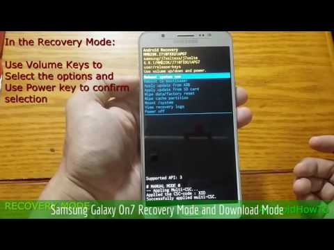 Samsung Galaxy On7 Recovery Mode And Download Mode