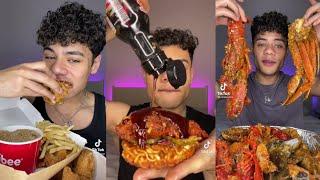 Ramizeinn tiktok compilation pt2  11 minutes of ramizienn eating spicy food  No reaction king