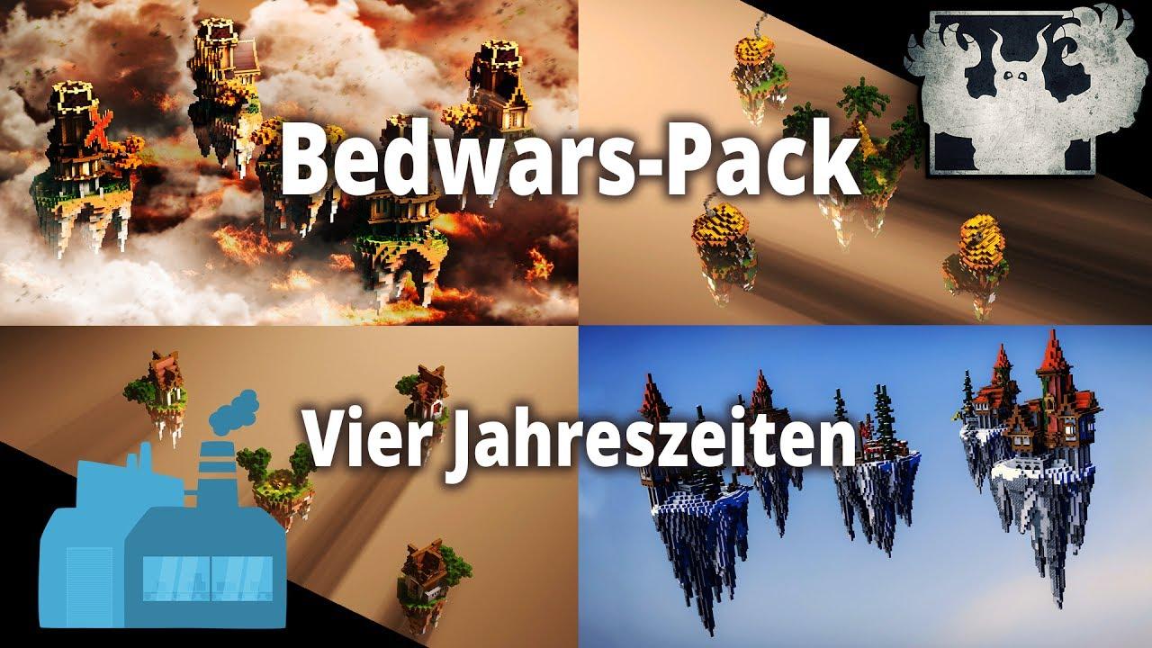 Minecraft Bedwars Maps BedwarsPack Vier Jahreszeiten YouTube - Minecraft fertige hauser einfugen