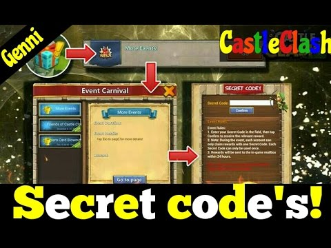 CastleClash Secret Code Event, All The Codes!