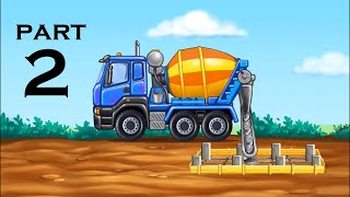 Build a house - Part 2 | baby & Kids game | Truck, Excavator, Construction Vehicles | How to build