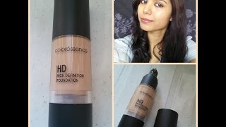 Coloressence HD Foundation Drugstore Product-Demo amp Review