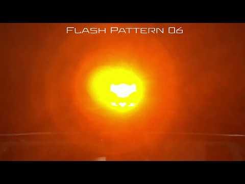 Octo LED Beacon Magnet Mount Flash Patterns