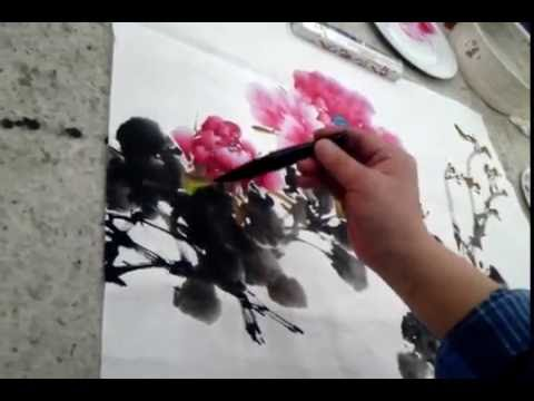 Chinese brush painting techniques : Flowers Painting