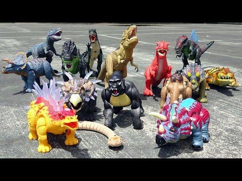 Download Youtube: Dino Battle Showdown! Learn Dinosaur Names for Kids! Fun Toy Video!