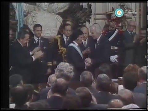 Primera asunción de Carlos Menem, 1989