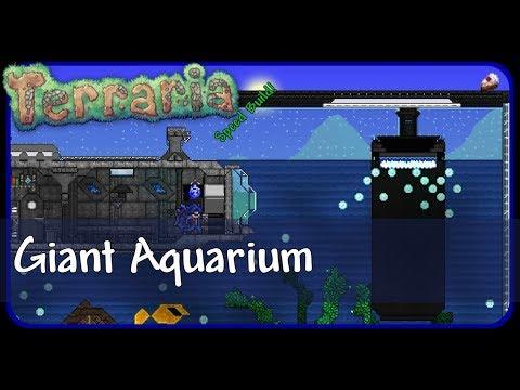 | Terraria | Speed Build | Giant Aquarium w/ submarine |