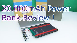 Vinsic 20 000 mAh Ultra Slim Power Bank Review - How good are cheap Powerbanks Whats inside HD
