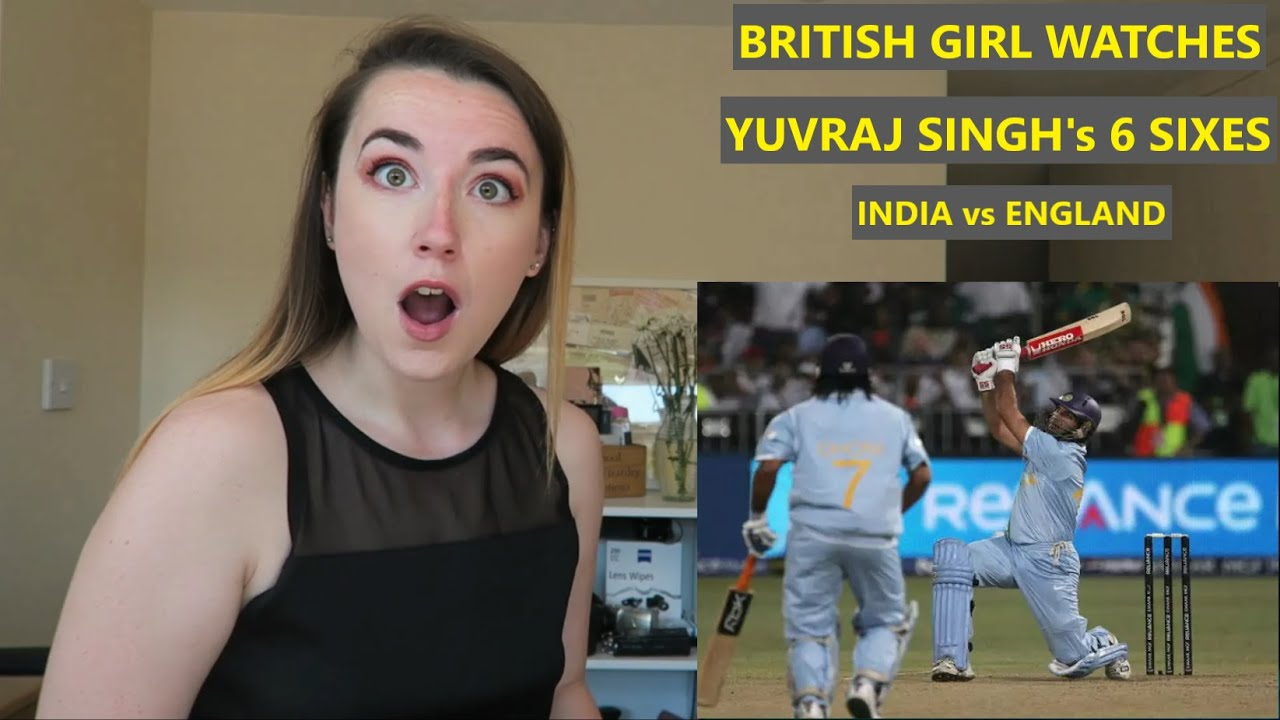 Yuvraj Singh 6 Sixes Reaction by British Girl