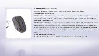 spy camera car key keychain usb stick instructions