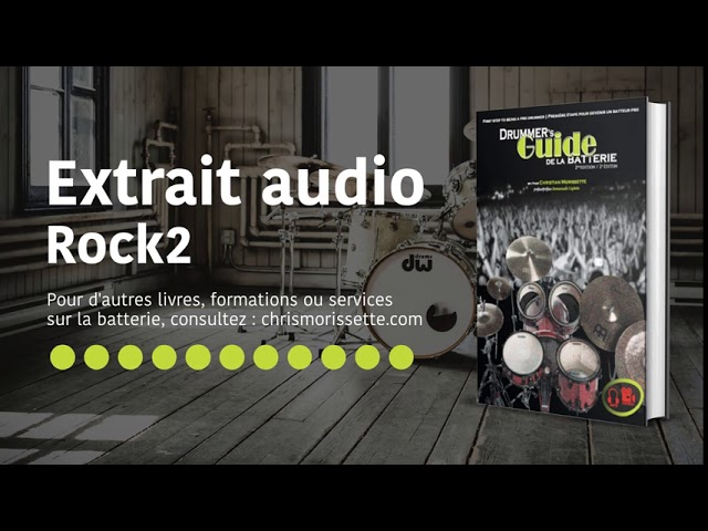 Extrait audio Rock2 - Drummer's Guide de la batterie