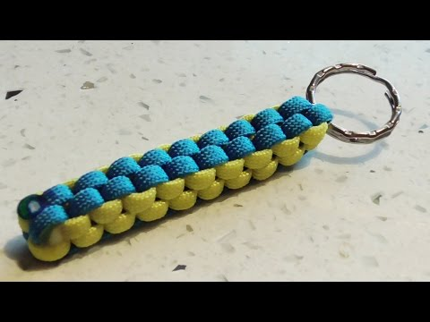How To Make A Crown Sinnet (Box Knot) Paracord Keychain