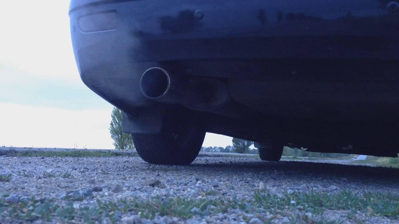 Приора с глушителем от Saab 2.3 turbo