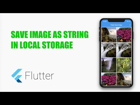 Google's Flutter Tutorial - Save Image As String In Local Storage- Preferences (coderzheaven.com)