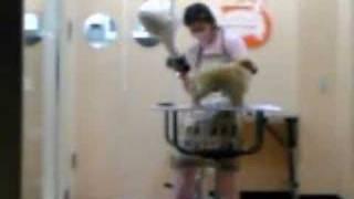 Woman of pet salon.