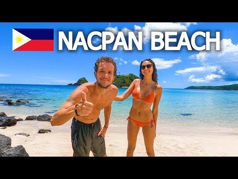 MOST BEAUTIFUL BEACH IN EL NIDO? NACPAN BEACH 🇵🇭 (PHILIPPINES)