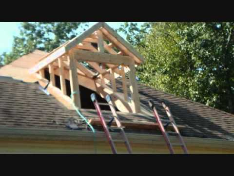 Building a dormer to transform a bonus room youtube for Cost of building a roof