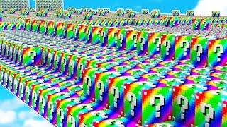 WORLD'S UNLUCKIEST MINECRAFT PLAYER! (Rainbow Lucky Block Race)