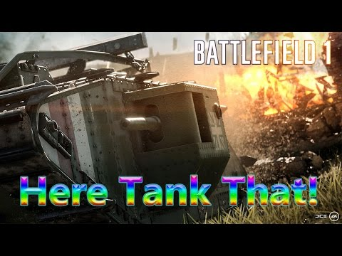BF1 Support Class Tank Destroyer Multiplayer Gameplay