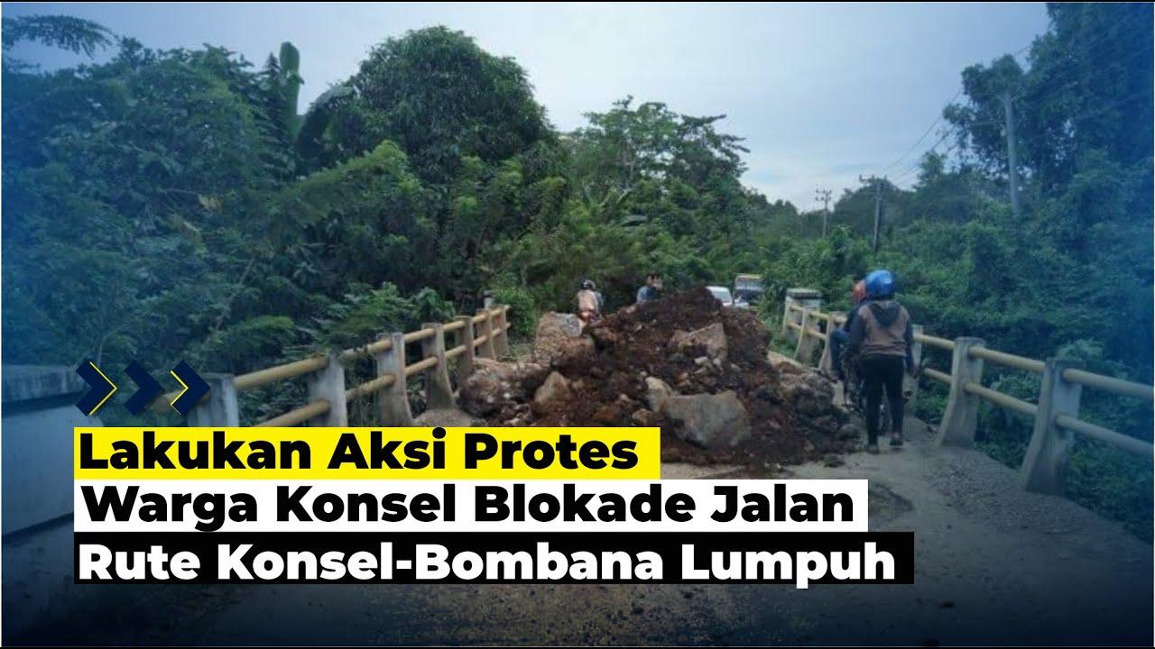 Warga Konsel Blokade Jalan