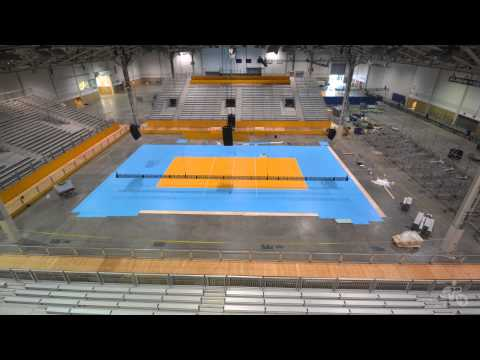 TO2015 Time Lapse: Indoor Volleyball Court