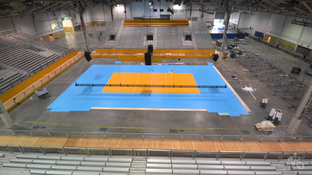 TO2015 Time Lapse: Indoor Volleyball Court - YouTube