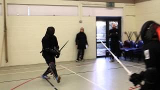 Helen Gallagher (Irish School of Historical Combat) vs Andrew Rozycki (Cork Blademasters)