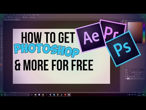 HOW TO GET PHOTOSHOP CC 2017 FREE! - ANY ADOBE PRODUCT FREE! NO SHADY DOWNLOAD
