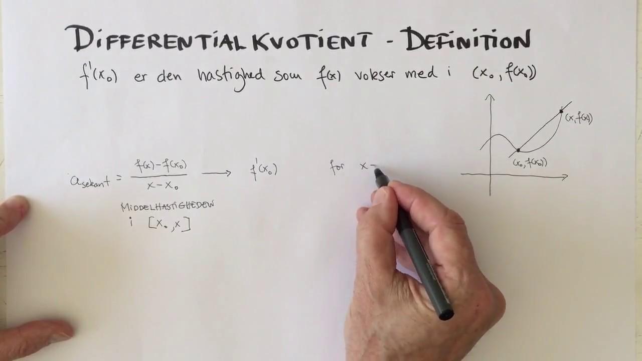 Definition af differentialkvotient