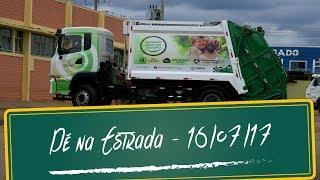 Coleta de lixo sustentável e pensamento positivo para o transporte