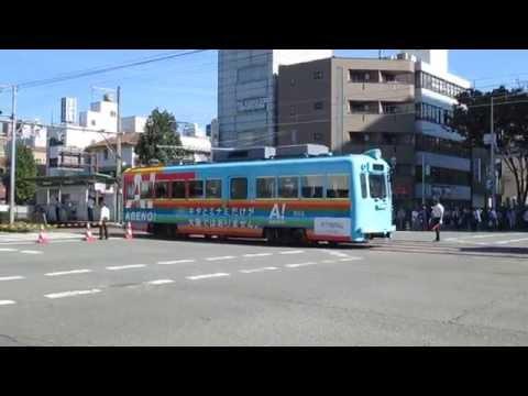 SAMURAI and the one-car train  Sakai Festival in 2014